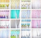Baby Kinderzimmer Vorhänge Gardine Babygardinen Kindergardinen Safari Eule Bärchen Sterne D8