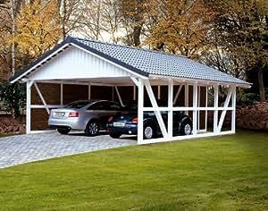 skan holz carport schwarzwald 684 x 772 cm mit r ckwand. Black Bedroom Furniture Sets. Home Design Ideas
