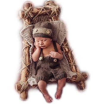 Accessoires de photographie pour nouveau-n eacute  gar ccedil on ou fille  en tricot, ee94ded7a3f