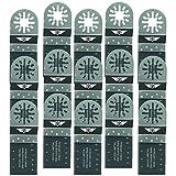 15 x 35 mm TopsTools UN35B_15 Metall schneiden Klingen für Bosch Fein (Nicht-StarLock) Makita Milwaukee Einhell Hitachi Parkside Ryobi Worx Workzone Multitool Zubehör