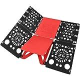 BoxLegend Skjorta vikbar bräda skjortor mapp enkel och snabb att vika kläder fällbara brädor tvättmappar (svart-röd)