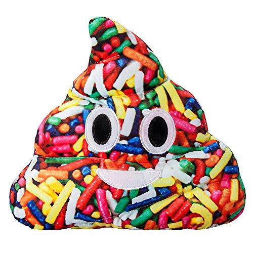 Lebendige Farbe Kackhaufen Poop Emoji Weiche Gefüllte Plüsch Kissen - 35x32x8cm große Emoticon Kissen - Geschenk für Jungen, Mädchen, Kinder