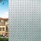 Qualsen Fensterfolie Selbstklebend Blickdicht Sichtschutzfolie Fenster Anti-UV Statische Folie (90cm x 200cm)