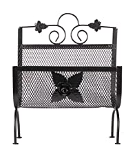 APKAMART Handcrafted Rot Iron Magazine Rack Cum Newspaper Holder - Decorative Showpiece for Table Decor and Gifts