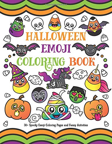 ring Book: 30+ Spooky Emoji Coloring Pages and Funny Activities ()