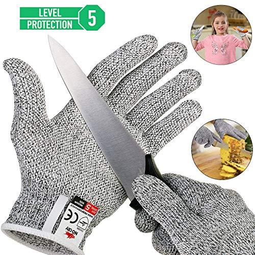 Schnittsichere Handschuhe für Kinder - Leistungsfähiger Level 5 Schutz, lebensmittelecht, Geeignet für 5-8 Jährige, Hochwertiger & Leichter Kettenhandschuh (XXS)