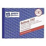 Avery Zweckform 1742 Quittung Kleinunternehmer, DIN A6, selbstdurchschreibend, 2 x 40 Blatt, weiß (10er Vorteilspack)