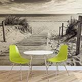 Weg Strand Sand Natur- Forwall - Fototapete - Tapete - Fotomural - Mural Wandbild - (2024WM) - XXXL - 416cm x 254cm - VLIES (EasyInstall) - 4 Pieces
