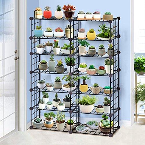 Cqq fleur étagère Fer à repasser Fer à repasser Plafonds à fleurs à étages multiples Salon de balcon Étagères à étagères Multifonctions ( taille : 65*125cm )
