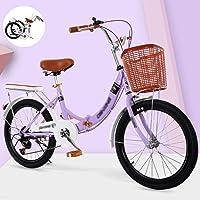 YYSD Faltbares Fahrrad für Männer und Frauen, Leichte Arbeit Doppelscheibenbremsen mit Variabler Geschwindigkeit City…