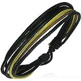 Zense - Fashion multi color wrap rope adjustable leather bracelet ZB0077 for men