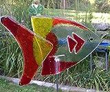 Glas Fisch Olga als Gartendeko Gartenstecker