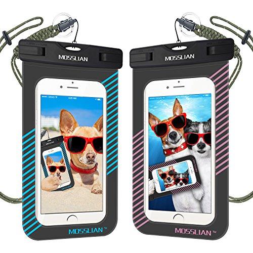 Wasserdichte-Handyhlle-MOSSLIAN-Wasserdichte-Universalhlle-fr-iPhone-Schutzhlle-fr-Damen-Herren-Strand-Wandern-Angeln-Outdoor-Die-beste-Wasser-Staub-Schmutz-und-Schneegeschtzte-Hlle-fr-Handys-bis-zu-6