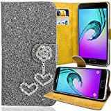 Paillettes Housse Sac Étui de Protection pour Samsung Galaxy Trend Lite S7390S7392Gris Bling Case strass M de 211Cœur Love neuf