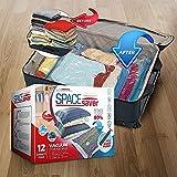 Platzsparende Premium-Vakuumbeutel, Mehrfach-Pack (3x klein, mittel, groß & extragroß), 80% mehr Stauraum als andere Marken. Eine gratis Handpumpe für Reisen - 4