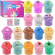 Cutiecute Mini Butter Slime Kit,Super Soft & Non-Sticky, Stress Relief Toy Scented Sludge Toy for Kids Edu