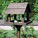 Garden Mile Traditionel Oiseau En Bois Table Jardin Nichoir Mangeoire À L'abri Alimentation Station Portable Sur Pieds Alimentation Table Station Haute Qualité Oiseau Nids 3 Styles