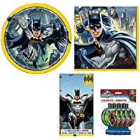 Batman Tableware Pack for 16 Plates Napkins Table Cover + Complimentary Jurassic world  sc 1 st  Amazon UK & Amazon.co.uk: Batman - Party Tableware / Party Supplies: Toys u0026 Games