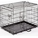 "Dog Crate Puppy Cage XL Extra Large 42"" Folding Training Cage With Metal Tray (Design 1 Standard Cage, Size 4 - 42"" XL)"