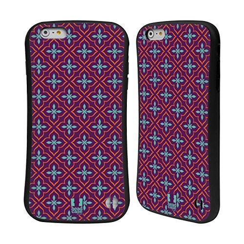 Head Case Designs Rose Fluo Motifs Marocains Étui Coque Hybride pour Apple iPhone 5 / 5s / SE Violet