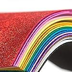 Heirloom Quality Glitter Foam Sheet Sparkles 30 X 20cm Back Paper 10-Pack for Children's Craft Activities DIY Cutters Art...