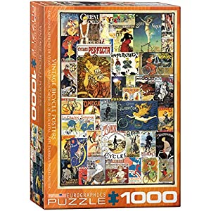 "EuroGraphics 6000-0756""Bicicletas Vintage Ads Puzzle (1000Piezas)"