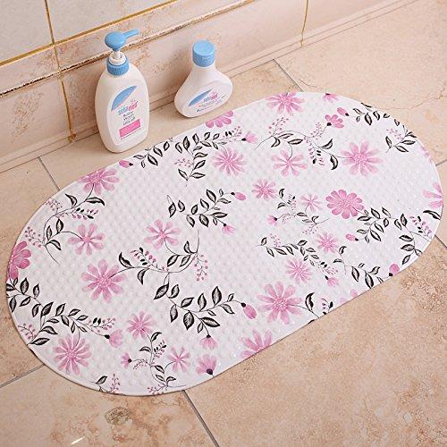 ZYZX Grüne unscented Badezimmer Badezimmer Badezimmer Teppiche Matten und Kunststoff wasserdicht Pad 71 * 38cm Black Leaf Saflor - Unscented Foam