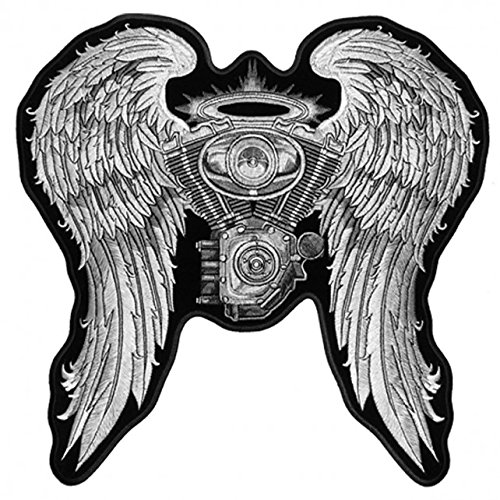 ladies-asphalt-angel-high-thread-embroidered-iron-on-saw-on-rayon-biker-patch-5-x-5
