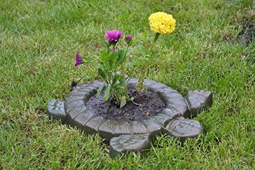 Form Schildkröte Dekorative Blume Gartenschutz für Beton #F01