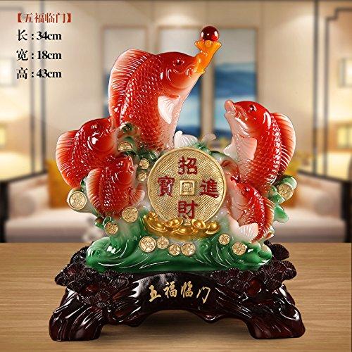 XOYOYO Hochzeit Versorgt Fische Kreative Chinesischen Tv Cabinet Office Home Ausstattung Wohnzimmer Dekoration Dekoration, Fünf Segen Herab Über Das Haus