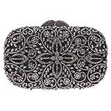 Bonjanvye Formal Glitter Evening Bags for Women Handing Purses and Handbag Gray