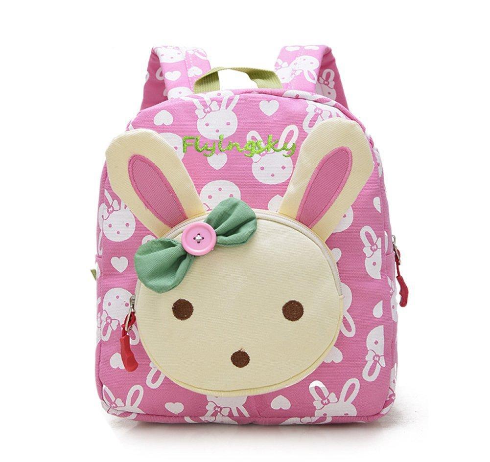 flyingsky rabbit animals kids school backpack pink baby