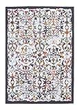 andiamo 1100384 Design Teppich Flachflor modern Kurzflor Teppich Greensboro Orient Ornament Muster, 120 x 170 cm, crème