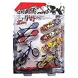 ECMQS 8 Piezas Tech Deck Dedos Bicicleta y monopatín niños Rueda...