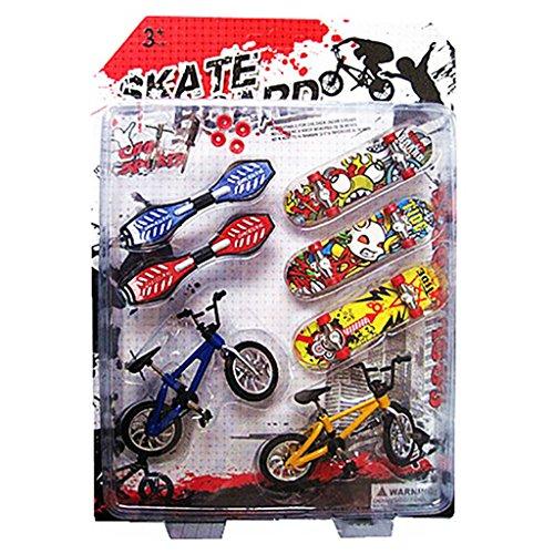 ECMQS 8 Stücke Tech Deck Finger Fahrrad Und Skateboard Kinder Kinder Rad Spielzeug Geschenke
