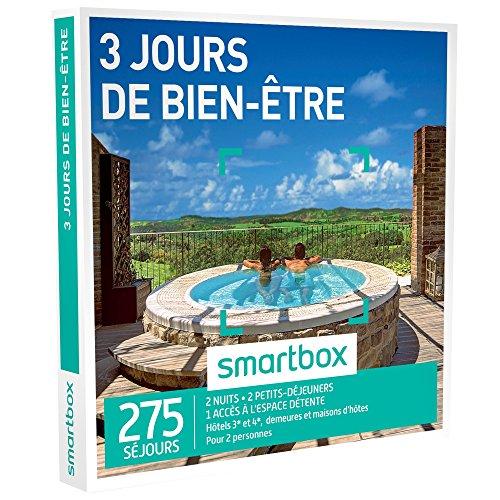 Smartbox Coffret Cadeau Homme Femme Couple 3 Jours De Bien être Idée Cadeau 680 Séjours 2 Nuits 2 Petits Déjeuners 1 Accès à Lespace