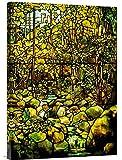 Global Galerie Budget gcs-265613–76,2–360,7cm Tiffany Studios eine bleifreien Glas Fenster der A Woodland Scene Galerie Wrap Giclée-Kunstdruck auf Leinwand Art Wand