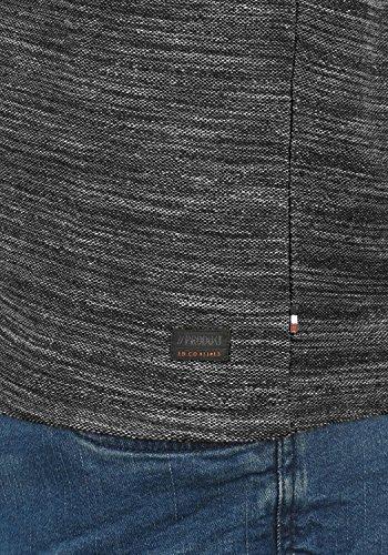 PRODUKT Pantaleon Herren Sweatshirt Pullover Sweater mit Rundhals-Ausschnitt aus hochwertiger 100% Baumwolle Meliert Black