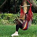 ENKEEO Hängesessel Hängelstuhl Hängeschaukel mit 2 Kissen, Atmungsaktiver & Weicher bis 127 kg belastbar, 130 x 100 x 115 cm von ENKEEO auf Gartenmöbel von Du und Dein Garten