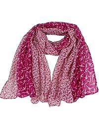 3b195540a2f6 Femme Oiseaux Imprimé Viscose doux Infinity Cache Boucle Cercle Casual écharpe  pour femme