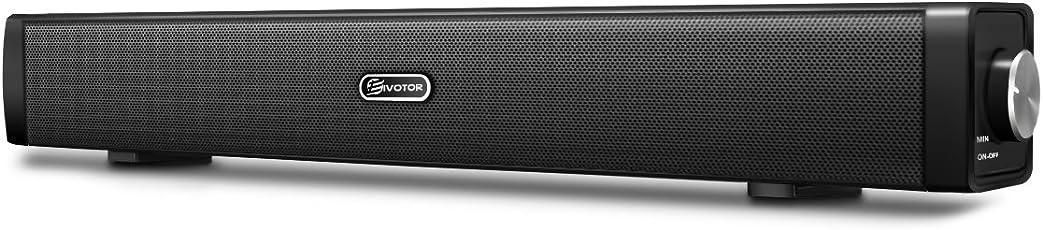 EIVOTOR PC Lautsprecher, USB Lautsprecher Computer Soundbar USB Player Box Soundsystem für Fernseher Wired Speaker USB Powered Sound Box für PC Notebook Laptop Smartphone und TV mit 3.5mm AUX Port