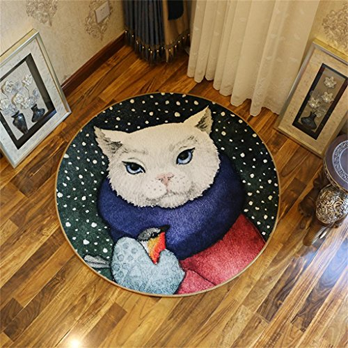 MEHE@ Mode Stilvoll Persönlichkeit kreativ Runder Teppich der Karikatur-Tierkinder, kreativer Raum der Kinder kriechende Auflage- / Computer-Stuhl-Kissen Teppiche ( Farbe : Pattern 2 , größe : Diameter 200cm )
