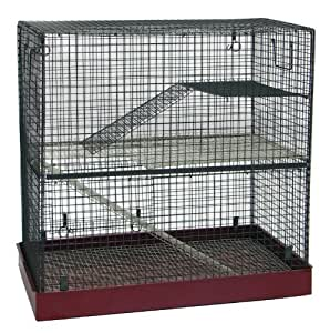 Home Sweet Home Chinchilla Rat Cage, Large, Red/ Grey