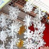 18 Stück DegGod Weiße Schneeflocken Weihnachtsdekoration Hängende Ornamente Christbaumschmuck Weihnachten Party Zubehör (11CM)