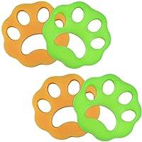 4PCS Poils Animaux Nettoyage Outil, LIUMY,Anti Poil Machine à Laver/Boule De Lavage pour Poils d'animaux Domestiques…