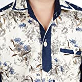 Ice Blue Floral Print Casual Shirts for ...