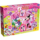 Lisciani - Minnie puzzle coloreable doble cara 60 piezas, 50 x 35 (Colorbaby 42661)
