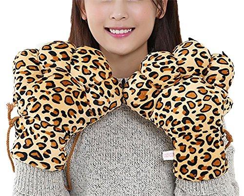 SHOU Niedlich Klaue Handschuhe Warm Tier Karikatur Gepard Fäustlinge Frau Winter Weich Cosplay Verschleiß Leopard Handschuhe Weihnachten Geschenke Rolle Abspielen Halloween Party