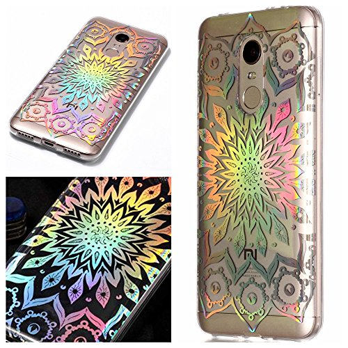 Funda Xiaomi Redmi 5 Plus, MHHQ Slim Luxury Glitter Bling Cute Case con Rave Holographic Laser Brillante Flexible Transparente Crystal Clear Soft TPU Silicone Case Cover para Xiaomi Redmi 5 Plus -4