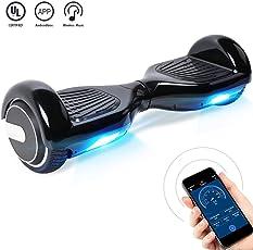 "Windgoo Hoverboard, 6.5"" Elektro Scooter mit App Funktion, Bluetooth Lautsprecher, 700W Motor, LED, Self-Balance E-Skateboard"